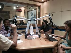 Entrevista na radio catedra com Ricardo Pantoja e  Aline Lima